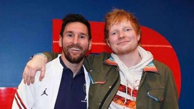 El encuentro sorpresa entre Messi y Ed Sheeran tras marcar su primer gol en el PSG