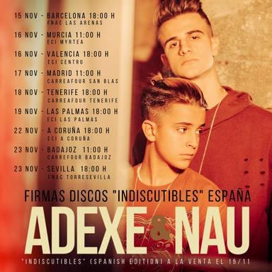 ¡Adexe y Nau anuncian las fechas y lugares para su nueva firma de discos!