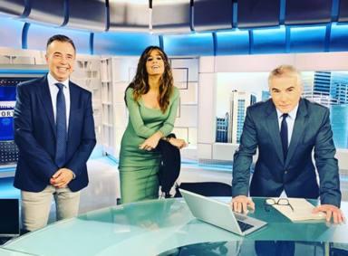 David Cantero se queda en shock tras la desagradable aparición de un espontáneo en Informativos Telecinco