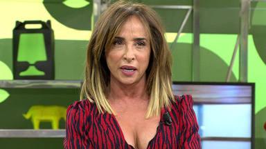 """María Patiño sufre un """"accidente"""" en directo y los colaboradores de 'Sálvame' se quedan de piedra"""