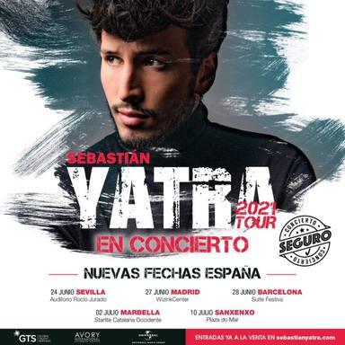 Estas son las cinco ciudades españolas que acogerán los conciertos de Sebastián Yatra en 2021