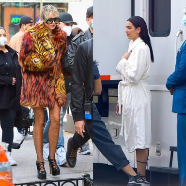 Miley Cyrus y Dua Lipa en Nueva York
