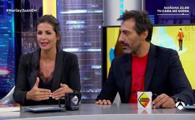 El feo gesto de Juan Del Val con Nuria Roca al confesar en directo quién es su verdadero amor