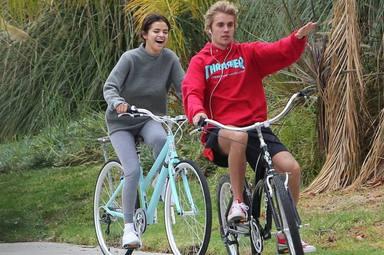 Selena Gomez y Justin Bieber en 2018