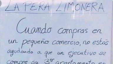 """El polémico cartel que se ha hecho viral y del que todo el mundo habla: """"La pera limonera"""""""