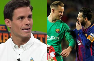 Las virales reacciones de Leo Messi y Ter Stegen a las preguntas de Edu Aguirre en la gala del Balón de Oro