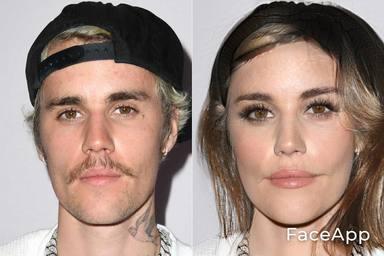 Justin Bieber FaceApp