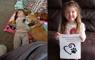 Una niña escribe una carta a su perrito recién fallecido y lo que consiguió después emocionó a todos