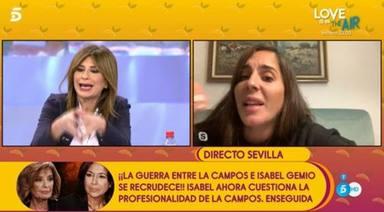 Anabel Pantoja, en blanco después de que su madre entre en directo y dé la razón a sus compañeros: Es normal