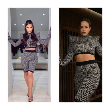 Rosalía y Kim Kardashian