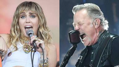Miley Cyrus y Metallica unen sus voces por primera vez en el escenario y los fans están como locos