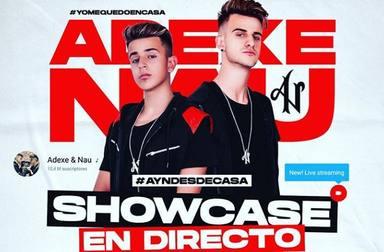 Adexe & Nau dará un showcase en directo desde casa este sábado