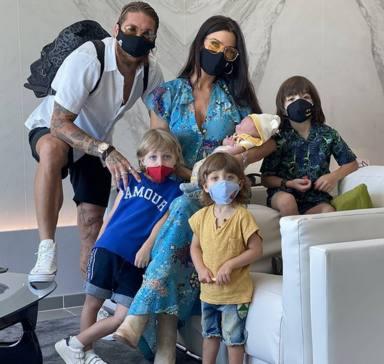 Pilar Rubio, Sergio Ramos y su familia
