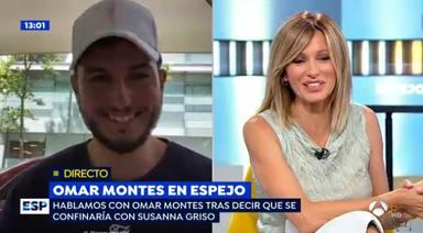 La picante declaración de intenciones de Omar Montes a Susana Griso en directo