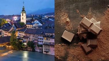 Llueve chocolate en un pueblo de Suiza