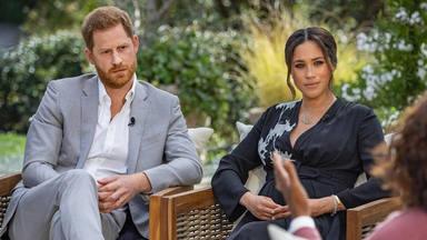 Meghan Markle y el príncipe Harry en la entrevista con Oprah