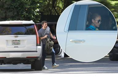 Imágenes de la escapada de Ben Affleck y Jennifer Lopez compartiendo coche
