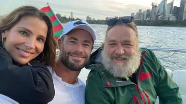 Esto es lo que pasa cuando Elsa Pataky y Chris Hemsworth pasan el fin de semana con Russell Crowe