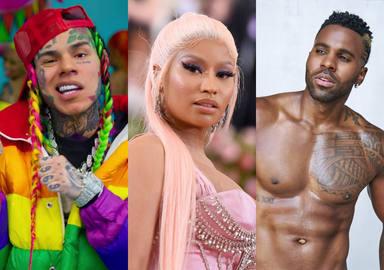 Así están las listas: 6ix9ine, Nicki Minaj y Jason Derulo, las sensaciones del momento