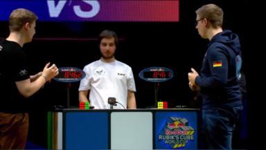 Este fue el reñido resultado entre estos dos hermanos en el Campeonato del Mundo de Cubo de Rubik