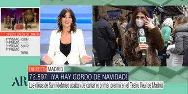 Una reportera de El programa de Ana Rosa se rompe en directo: No me ha tocado dar muy buenas noticias