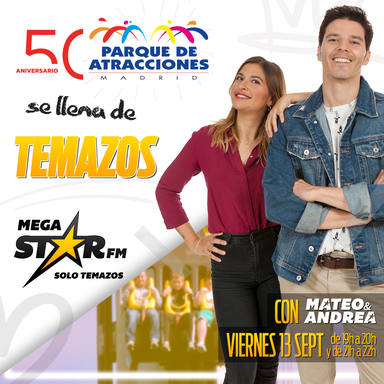 Mateo y Andrea, este viernes en el Parque de Atracciones de Madrid