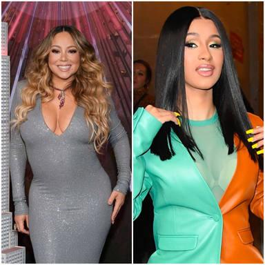 ¿Colaboración a la vista? Mariah Carey y Cardi B podrían ponerse manos a la obra para crear un nuevo temazo