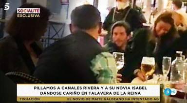 Canales Rivera y su mujer