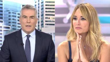 """Alba Carrillo deja blanco a David Cantero tras colarse en Informativos Telecinco: """"Hasta luego..."""""""