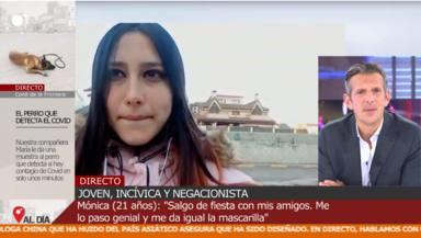 Indignación con Mónica, la negacionista del coronavirus: Salgo de fiesta y no tengo miedo a contagiarme