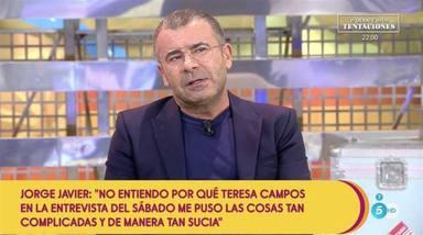 Así fue él histórico mensaje de Jorge Javier Vázquez a María Teresa Campos en Sálvame