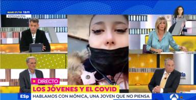 Susanna Griso estalla ante las peligrosas mentiras de Mónica, la negacionista del coronavirus