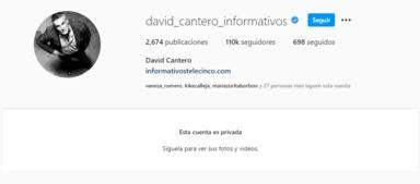 La controvertida desaparición de David Cantero de la vida pública tras su opinión sobre el coronavirus