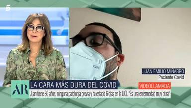 La emoción de Ana Rosa Quintana al escuchar las duras palabras de un paciente de coronavirus