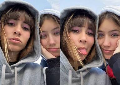 Las fotos más divertidas de Aitana con la hermana de Miguel Bernardeau estas Navidades
