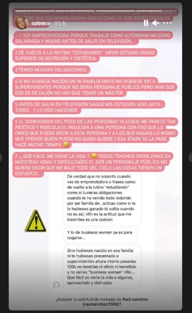 Rocío Flores rompe su silencio y desmonta a todos sus críticos con un contundente mensaje en redes sociales