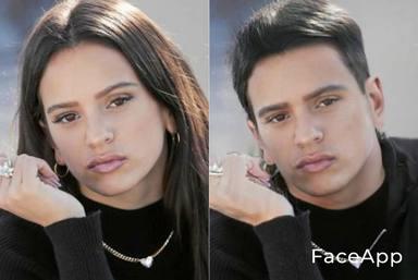 Rosalía FaceApp
