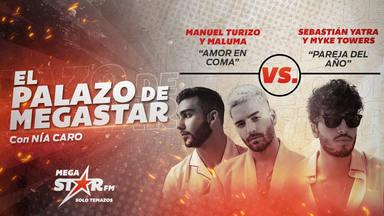 Manuel Turizo y Maluma cierran la semana como Palazo de MegaStar pero les toca enfrentarse a otro colombianos